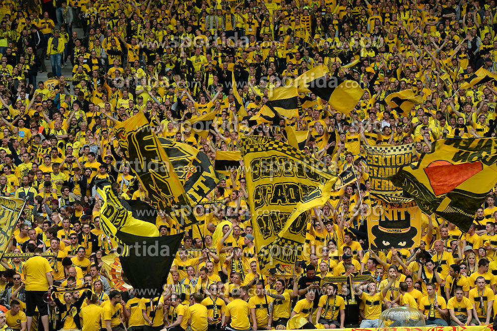 17.05.2014, Olympiastadion, Berlin, GER, DFB Pokal, Borussia Dortmund vs FC Bayern Muenchen, Finale, im Bild Fankurve Fanblock gelbe Wand BVB Borussia Dortmund // during the mens DFB Pokal final match between Borussia Dortmund and FC Bayern Munich at the Olympiastadion in Berlin, Germany on 2014/05/17. EXPA Pictures &copy; 2014, PhotoCredit: EXPA/ Eibner-Pressefoto/ Weber<br /> <br /> *****ATTENTION - OUT of GER*****