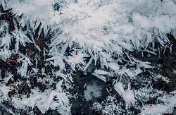 THEMENBILD - gefrorene Schneekristalle an einem Bach, aufgenommen am 04. Jänner 2020 in Kaprun, Oesterreich // frozen snow crystals by a stream, in Kaprun, Austria on 2020/01/04. EXPA Pictures © 2020, PhotoCredit: EXPA/Stefanie Oberhauser