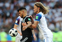 Football - 2018 FIFA World Cup - Group D: Argentina vs. Iceland<br /> Sergio Aguero of Argentina vies with Birkir Bjarnason of Iceland at Spartak Stadium (Otkritie Arena), Moscow.<br /> <br /> COLORSPORT/IAN MACNICOL