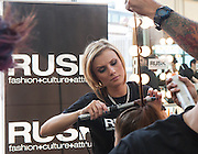 Nolcha Fashion Week New York 2012 at Pier 59 on September 12, 2012. RUSK, presenting sponsor of Nolcha Fashion Week 2012, is the professional haircare brand internationally renowned for its cutting-edge approach to cut, color and style.