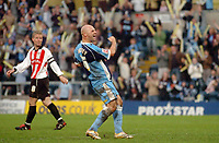 Photo: Leigh Quinnell.<br /> Wycombe Wanderers v Cheltenham Town. Coca Cola League 2, Play off Semi Final. 13/05/2006. Tommy Mooney celebrates his goal for Wycombe.