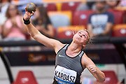 Poland, Warsaw - 2017 August 15: Anna Kardasz of Poland competes in women&rsquo;s shot put during Memorial of Kamila Skolimowska at Stadion PGE Narodowy on August 15, 2017 in Warsaw, Poland.<br /> <br /> Mandatory credit:<br /> Photo by &copy; Adam Nurkiewicz<br /> <br /> Adam Nurkiewicz declares that he has no rights to the image of people at the photographs of his authorship.<br /> <br /> Picture also available in RAW (NEF) or TIFF format on special request.<br /> <br /> Any editorial, commercial or promotional use requires written permission from the author of image.