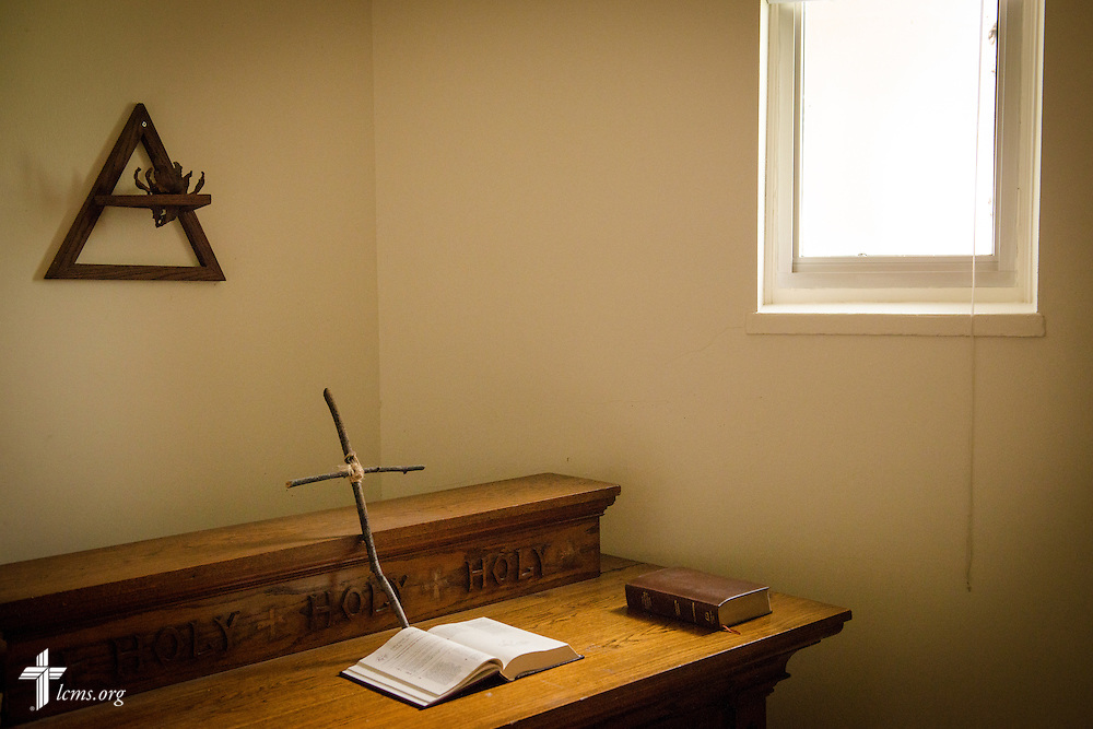 A small prayer room at Concordia University, Saint Paul, on Wednesday, August 6, 2014, in St. Paul, Minn.   LCMS Communications/Erik M. Lunsford