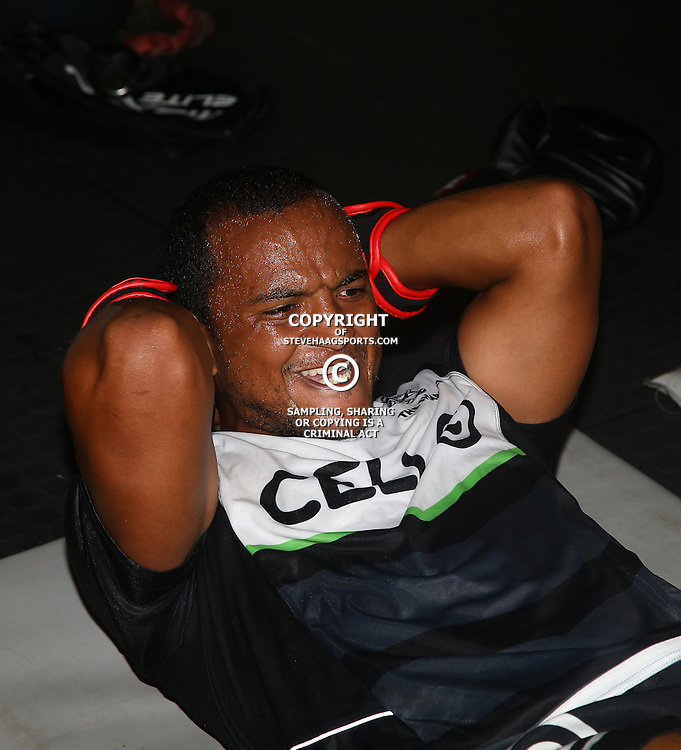 DURBAN, SOUTH AFRICA - JANUARY 16: Rhyno Smith  during the Cell C Sharks boxing session at Domination on January 16, 2017 in Durban, South Africa. (Photo by Steve Haag/Gallo Images)