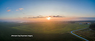 63893-03410 Sunrise in rural Illinois - panoramic aerial - Marion Co. IL