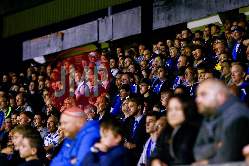 Bristol Rovers fans watch the game - Mandatory by-line: Ryan Hiscott/JMP - 14/08/2018 - FOOTBALL - Memorial Stadium - Bristol, England - Bristol Rovers v Crawley Town - Carabao Cup