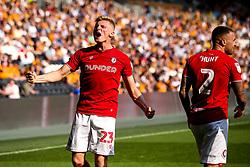Taylor Moore of Bristol City celebrates - Mandatory by-line: Robbie Stephenson/JMP - 24/08/2019 - FOOTBALL - KCOM Stadium - Hull, England - Hull City v Bristol City - Sky Bet Championship