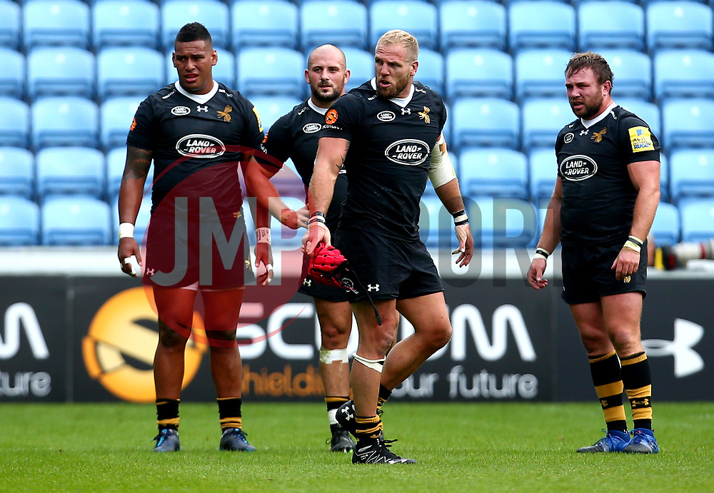 James Haskell of Wasps cuts a angry figure after being sin binned for fighting with Joe Marler of Harlequins - Mandatory by-line: Robbie Stephenson/JMP - 17/09/2017 - RUGBY - Ricoh Arena - Coventry, England - Wasps v Harlequins - Aviva Premiership