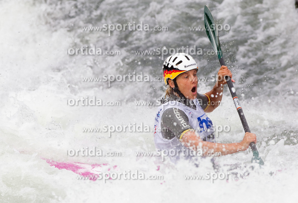 Jasmin Schornberg of Germany competes during Kayak (K1) Women semifinal race at ICF Canoe Slalom World Cup Sloka 2011, on June 26, 2011, in Tacen, Ljubljana, Slovenia. (Photo by Vid Ponikvar / Sportida)