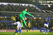Birmingham goalkeeper Tomasz Kuszczak punches clear during the EFL Sky Bet Championship match between Birmingham City and Sheffield Wednesday at St Andrews, Birmingham, England on 27 September 2017. Photo by John Potts.