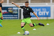 Forest Green Rovers Liam Kitching(20) warming up during the Pre-Season Friendly match between Bath City and Forest Green Rovers at Twerton Park, Bath, United Kingdom on 27 July 2019.
