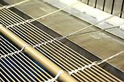 D&uuml;ren. 15.03.17 | BILD- ID 031 |<br /> GKD - Gebr. Kufferath AG. Metallfassade f&uuml;r die Neue Mannheimer Kunsthalle.<br /> Das Unternehmen in D&uuml;ren produziert Fassaden f&uuml;r die Architektur aus Metall. Ein gewebtes Metallgitter wird von Aussen an die Fassade montiert. <br /> Kunsthallendirektorin Dr. Ulrike Lorenz besucht das Unternehmen in D&uuml;ren und freut sich &uuml;ber die technische Umsetzung mit einer speziell goldenen Pigmentierung der Edelstahlstreben.<br /> Bild: Markus Prosswitz 15MAR17 / masterpress (Bild ist honorarpflichtig - No Model Release!)