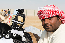 camel racing club at Al Marmoum outside Dubai  in United Arab Emirates