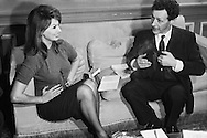 Sophia Loren and Jean Louis Barrault in deep conversation.<br />