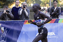 November 6, 2016 - New York, New York, U.S - LUCAS ROTICH of Kenya competes in the New York City Marathon, where he would finish second in 2:08:53. (Credit Image: © Staton Rabin via ZUMA Wire)
