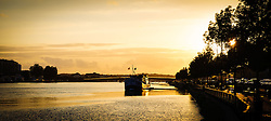 Evening on the River Adour in Bayonne, Aquitaine, France<br /> <br /> (c) Andrew Wilson | Edinburgh Elite media