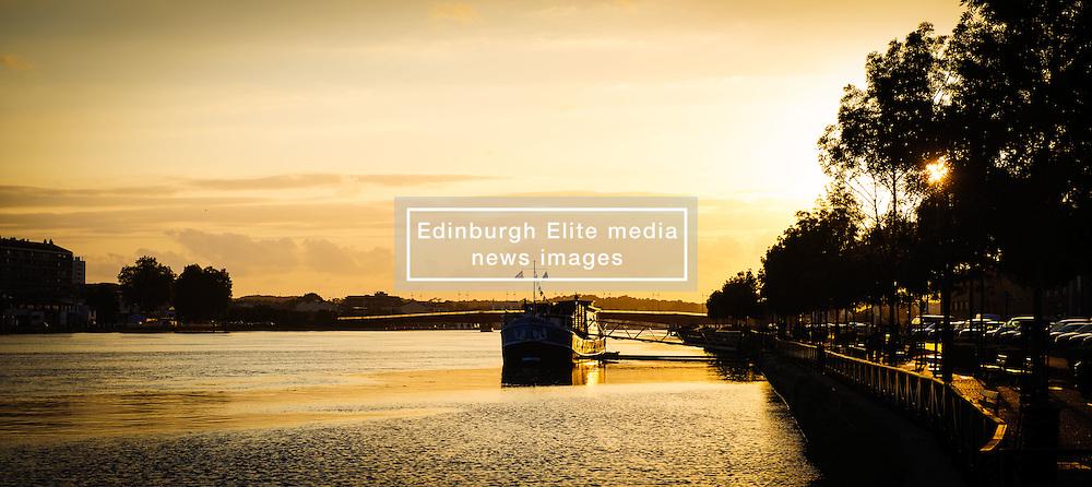 Evening on the River Adour in Bayonne, Aquitaine, France<br /> <br /> (c) Andrew Wilson | Edinburgh Elite media