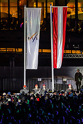 20.02.2019, Seefeld, AUT, FIS Weltmeisterschaften Ski Nordisch, Seefeld 2019, Eröffnungsfeier, im Bild Fahnenübergabe und Fahne Hissen // Flag handover and flag hoisting during the opening ceremony of the FIS Nordic Ski World Championships 2019. Seefeld, Austria on 2019/02/20. EXPA Pictures © 2019, PhotoCredit: EXPA/ JFK