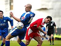 Photo: Chris Ratcliffe.<br />Leyton Orient v Boston United. Coca Cola League 2. 08/04/2006.<br />Shane Tudor of Leyton Orient tussles with Alan White of Boston United