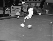 Benson and Hedges Masters Snooker.  (N62)..1981..19.02.1981..02.19.1981..19th February 1981..The quarter final of the Benson and Hedges Masters Snooker competion was held tonight at Goffs , Kill, Co Kildare. The match would be contested between Terry Griffiths and Kirk Stevens...Image shows Terry Griffiths getting in some practice on the match table before the quarter final against Kirk Stevens.