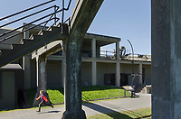 Gun batteries and bunkers at Fort Casey State Park, Washington