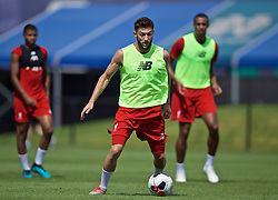 SOUTH BEND, INDIANA, USA - Thursday, July 18, 2019: Liverpool's Adam Lallana during a training session ahead of the friendly match against Borussia Dortmund at the Notre Dame Stadium on day three of the club's pre-season tour of America. (Pic by David Rawcliffe/Propaganda)