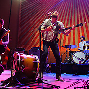 WASHINGTON, D.C. - February 18th, 2011: Hot off their performance with Mumford & Sons and Bob Dylan at the Grammy Awards, The Avett Brothers perform in front of a sold out crowd at DAR Constitution Hall. (Photo by Kyle Gustafson/For The Washington Post)