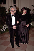 Grammy award winning musician & composer Gato Barbieri with wife Laura arrive for the State Dinner for Argentine President Carlos Menem January 11, 1999 at the White House.
