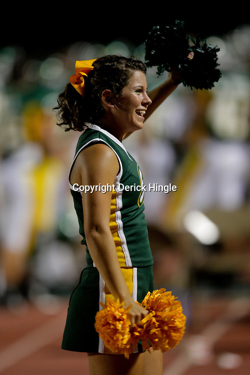 10 September 2009:  Southeastern Louisiana Lions cheerleaders perform during a game between Southeastern Louisiana University Lions and Union College at Strawberry Stadium in Hammond, Louisiana.