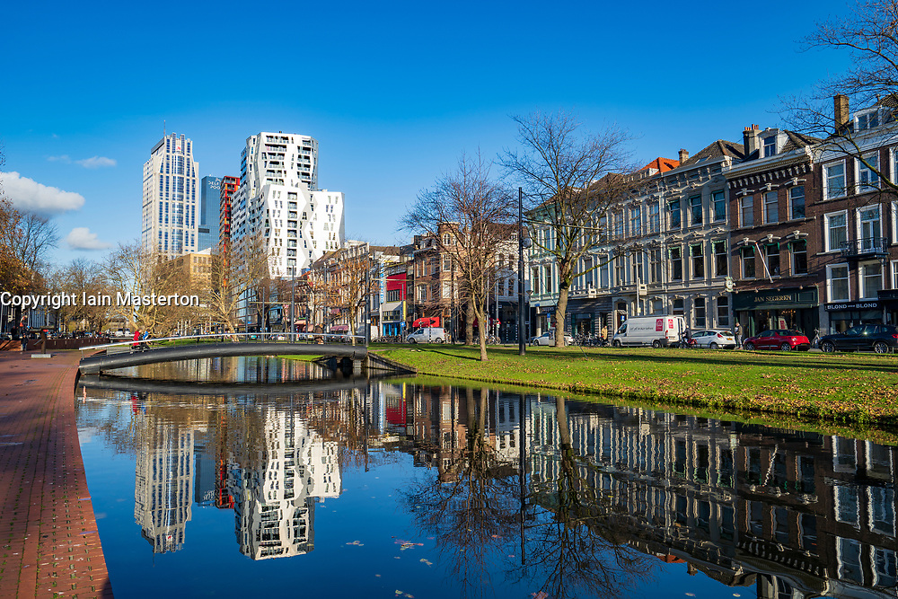 Mauritsweg and Westersingel canal in Rotterdam, Netherlands