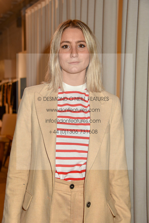 Gemma Chilvers at a dinner to celebrate the collaboration of jewellers Tada & Toy with Lady Amelia Windsor held at Reformation, 186 Westbourne Grove, London.<br /> <br /> Photo by Dominic O'Neill/Desmond O'Neill Features Ltd.  +44(0)1306 731608  www.donfeatures.com