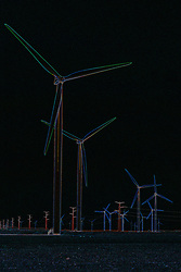 26 April 2008:  Wind Turbines from the Twin Groves wind farm in Eastern McLean County (Bloomington Normal) Illinois This image was produced in part utilizing High Dynamic Range (HDR) or panoramic stitching or other computer software manipulation processes. It should not be used editorially without being listed as an illustration or with a disclaimer. It may or may not be an accurate representation of the scene as originally photographed and the finished image is the creation of the photographer.