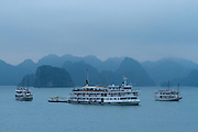 Halong Bay, a UNESCO World Heritage Site, in Vietnam.
