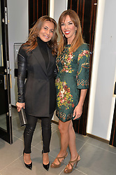 Left to right, ELLA KRASNER and HEATHER KERZNER at the opening of the new Gismondi Jewellery boutique, 14 Albermarle Street, London on 9th October 2014.