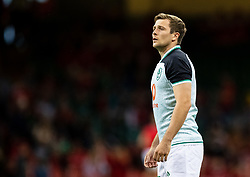 Jack Carty of Ireland during the pre match warm up<br /> <br /> Photographer Simon King/Replay Images<br /> <br /> Friendly - Wales v Ireland - Saturday 31st August 2019 - Principality Stadium - Cardiff<br /> <br /> World Copyright © Replay Images . All rights reserved. info@replayimages.co.uk - http://replayimages.co.uk