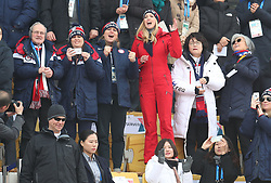 Ivanka Trump, South Korean first lady Kim Jung-sook and South Korean foreign minister Kang Kyung-wha attend the Men's Snowboarding Big Air Final at the Alpensia Ski Jumping Centre during day fifteen of the PyeongChang 2018 Winter Olympic Games in South Korea.