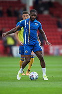 Abu Ogogo of Shrewsbury Town warms up ahead of the EFL Sky Bet League 1 match between Walsall and Shrewsbury Town at the Banks's Stadium, Walsall, England on 7 October 2017. Photo by Darren Musgrove.