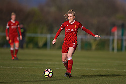 LIVERPOOL, ENGLAND - Sunday, February 4, 2018: Liverpool's Kate Longhurst during the Women's FA Cup 4th Round match between Liverpool FC Ladies and Watford FC Ladies at Walton Hall Park. (Pic by David Rawcliffe/Propaganda)