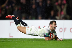 Danny Care of England dives for the try-line - Mandatory byline: Patrick Khachfe/JMP - 07966 386802 - 18/11/2017 - RUGBY UNION - Twickenham Stadium - London, England - England v Australia - Old Mutual Wealth Series International