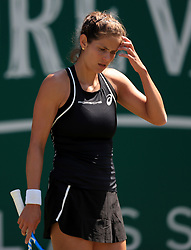 Germany's Julia Goerges reacts during her quarter final against Czech Republic's Petra Kvitova during day five of the Nature Valley Classic at Edgbaston Priory, Birmingham.