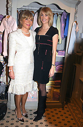 Left to right, ROSIE, MARCHIONESS OF NORTHAMPTON and her daugher LADY EMILY COMPTON at a party to celebrate the opening of children's store Chippi Hacki at 8 Motcomb Street, London, SW1 on 24th November 2004.<br /><br />NON EXCLUSIVE - WORLD RIGHTS