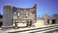 Libia, Leptis Magnia, il mercato.Considerato il più bel sito romano del Mediterraneo..Libya, Leptis Magna, the market.Considered the best Roman site in the Mediterranean