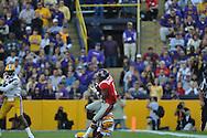 Ole Miss' Randall Mackey (1) vs. LSU safety Eric Reid (1) at Tiger Stadium in Baton Rouge, La. on Saturday, November 17, 2012.....