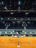 AMSTERDAM - Training van het Davisteam tennis in de Ziggodome , COPYRIGHT ROBIN UTRECHT