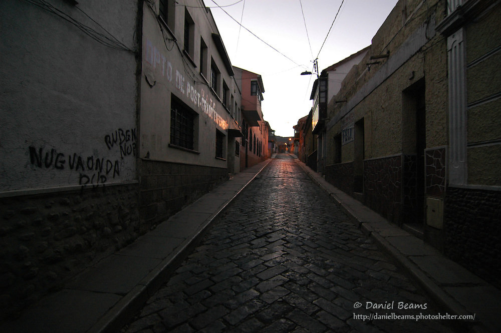 Potosi street in the early morning