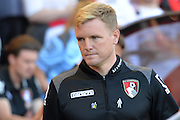 Bournemouth Manager Eddie Howe during the Barclays Premier League match between Bournemouth and Sunderland at the Goldsands Stadium, Bournemouth, England on 19 September 2015. Photo by Mark Davies.