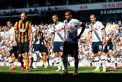 Danny Rose of Tottenham Hotspur looks on - Photo mandatory by-line: Rogan Thomson/JMP - 07966 386802 - 16/05/2015 - SPORT - FOOTBALL - London, England - White Hart Lane - Tottenham Hotspur v Hull City - Barclays Premier League.