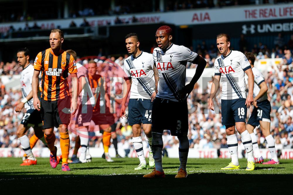 Danny Rose of Tottenham Hotspur looks on - Photo mandatory by-line: Rogan Thomson/JMP - 07966 386802 - 16/05/2015 - SPORT - FOOTBALL - London, England - White Hart Lane - Tottenham Hotspur v Hull City - Barclays Premier League.