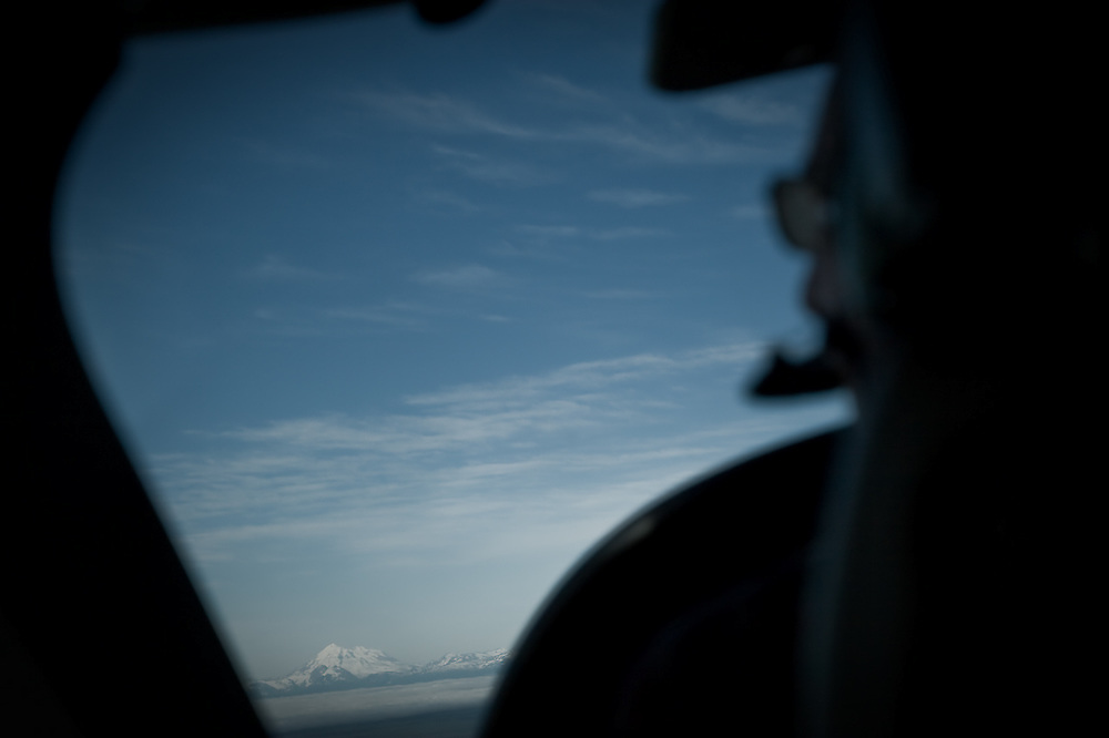 Mt. McKinley, known locally as Denali, viewed from the distance near Talkeetna, Alaska.