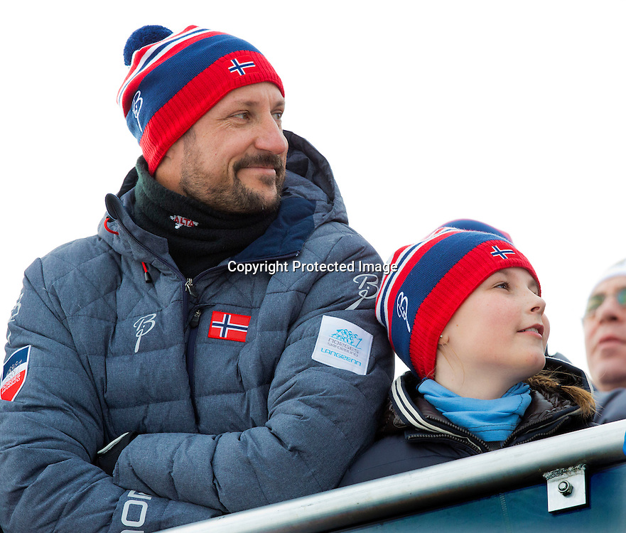 Falun, 28-02-2015<br /> <br /> <br /> King Carl Gustaf and Queen Silvia. Crown Princess Victoria and Prince Daniel, Princess Estelle, Crown Prince Haakon and Crown Princess Mette-Marit and Princess Ingrid Alexandra, Prince Sverre Magnus attend Norwegian Royals at the FIS World Ski Championchips Falun.<br /> Photo: Bernard Ruebsamen/Royalportraits Europe